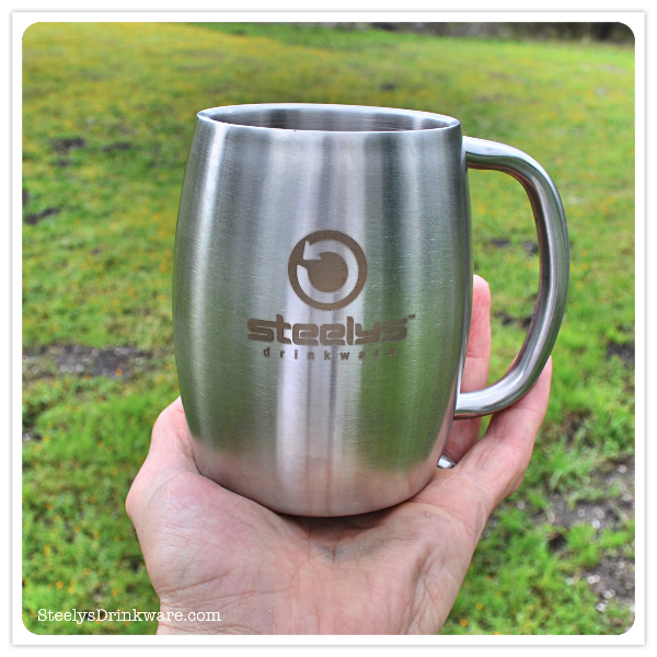 14 Oz Insulated Barrel Mug Steelys Drinkware