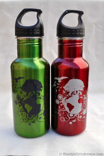 18 Oz Ez Twist Water Bottle Steelys Drinkware