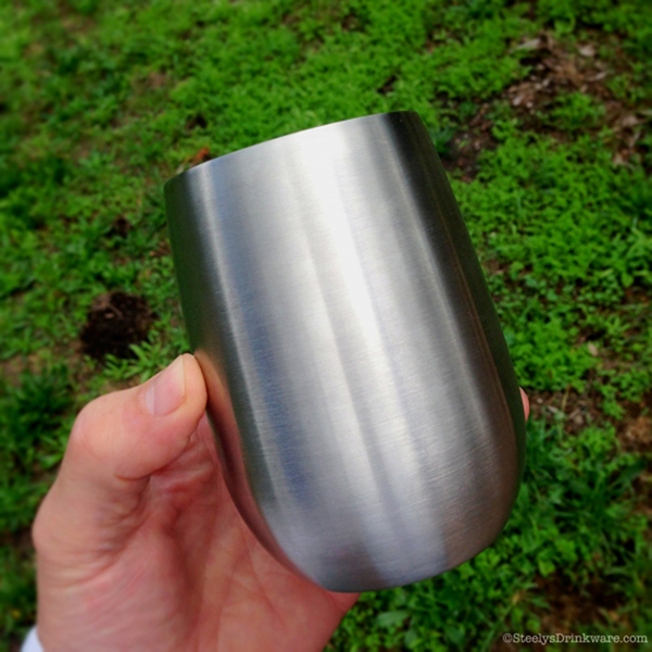 9 Oz Vacuum Insulated Stainless Steel Wine Cup Steelys