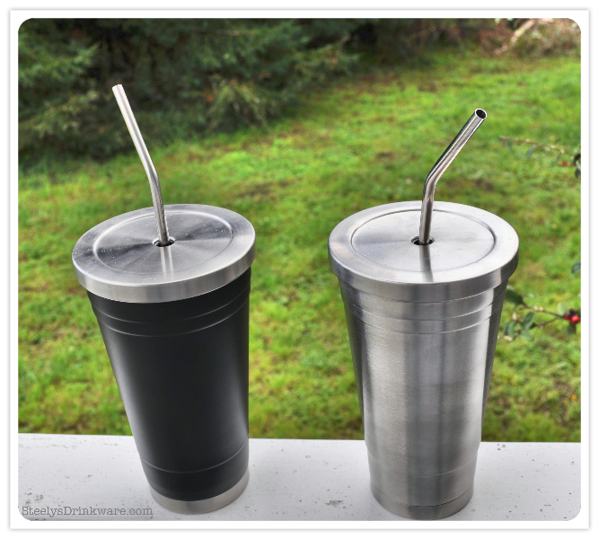18 Oz Insulated Tumbler With Reusable Straw Steelys