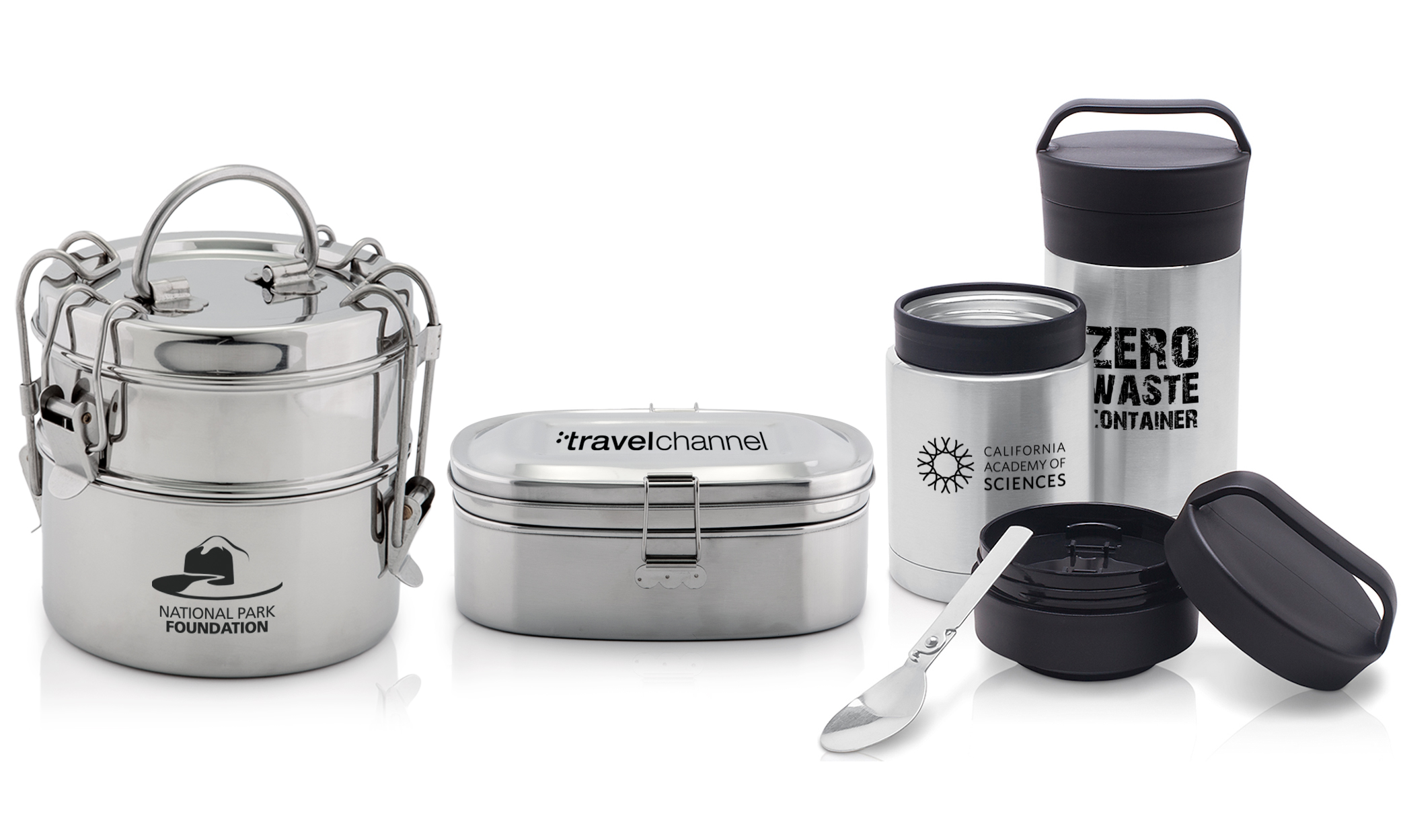 stainless steel zero-waste foodware and containers