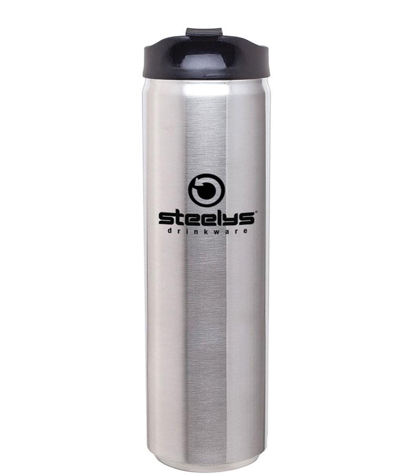 custom branded laser engraved steelys to-go tumbler