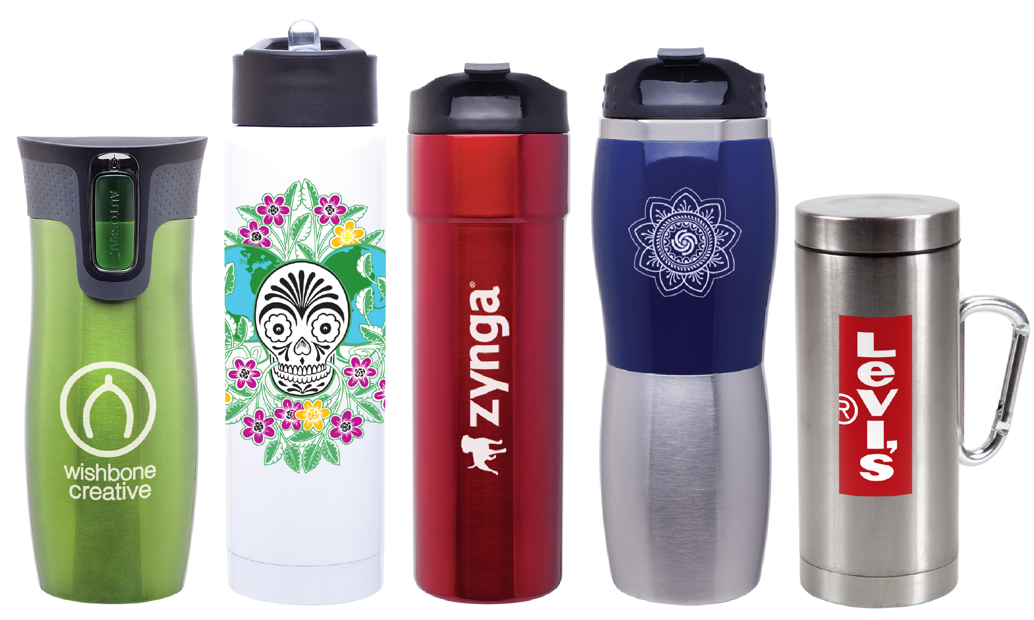 stainless steel branded wholesale tumblers and mugs