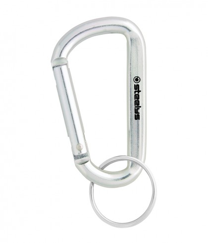 wholesale custom branded steelys small silver carabiner