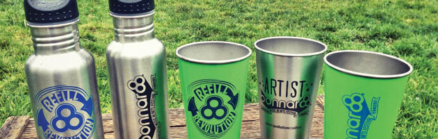 stainless steel bonnaroo & steelys cups and bottles