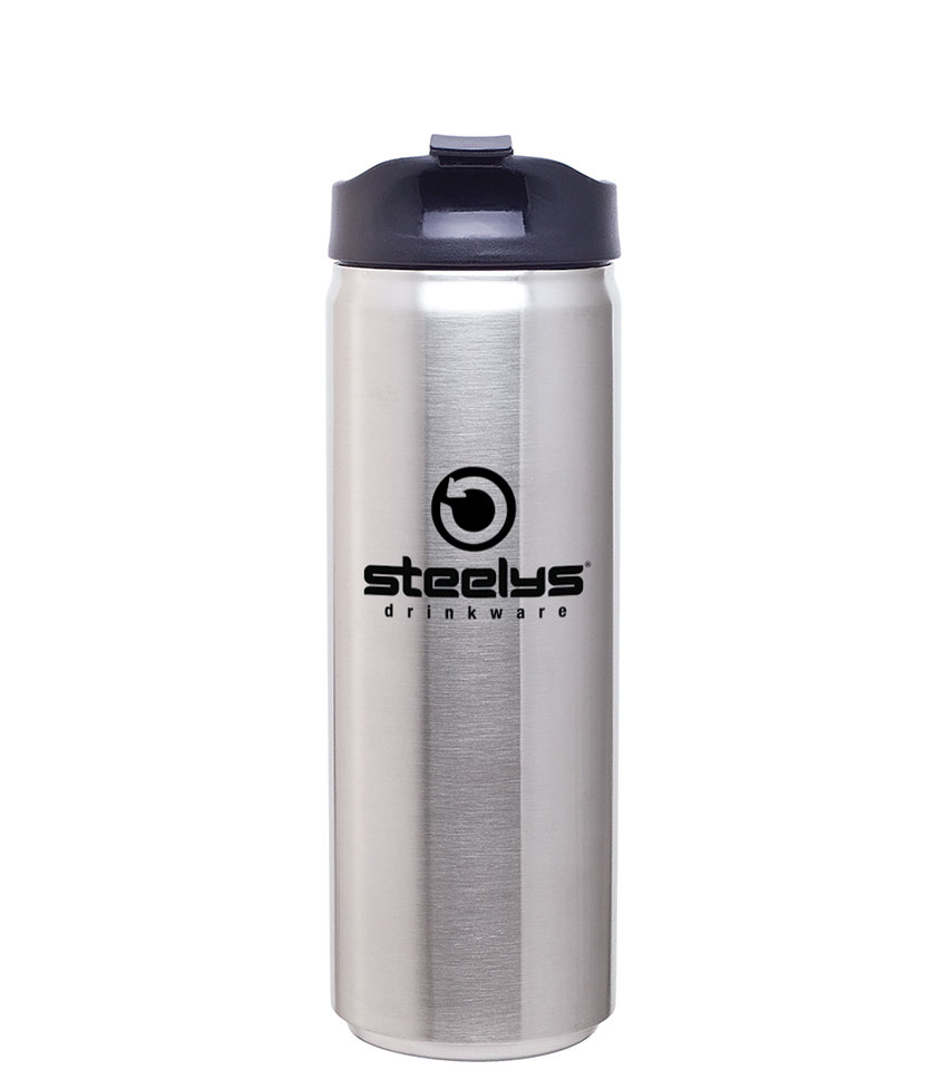 custom printed steelys double wall travel mug