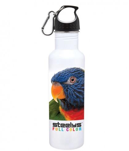 bird photograph on steelys stainless steel water bottle