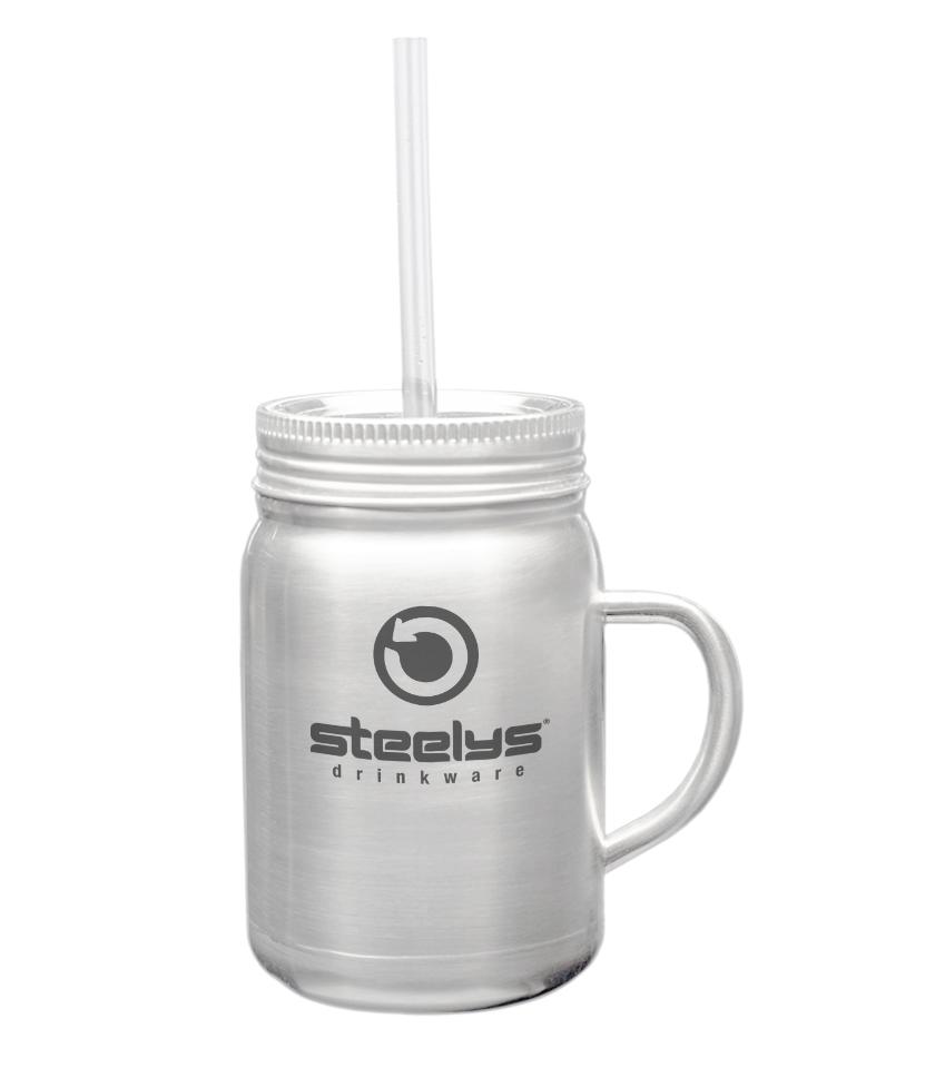 22 Oz Custom Stainless Steel Mason Jar
