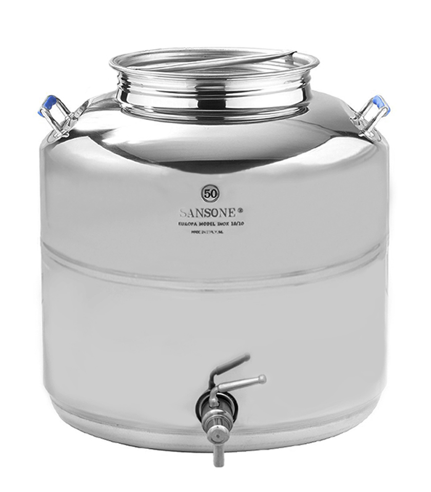 50 liter stainless steel water serving container with premium steel spigot