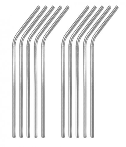 Reusable Bent Stainless Steel Drinking Straws Custom